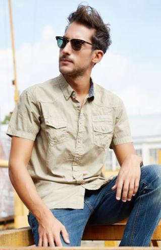 Camicie Uomo Primavera Estate
